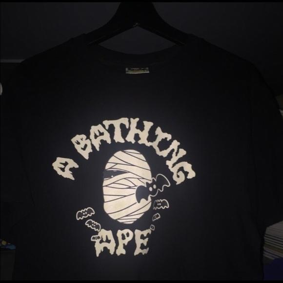 69835dcd Bape Shirts | Glow In The Dark Halloween Shirt Sizel | Poshmark